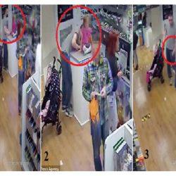 شاهد بالفيديو.. أب يستغل ابنته لسرقه جوال