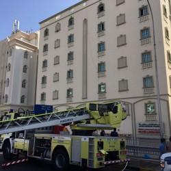 اصابة 5 اشخاص في حريق بمبنى تجاري بروي