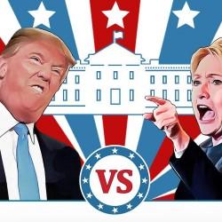 شاهد البث المباشر الانتخابات الأميركية 2016: دونالد ترامب يفوز بـ26 ولاية وهيلاري كلينتون بـ18