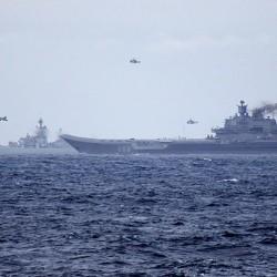 البنتاغون يعلن عن قيام الطائرات الروسية المتواجدة على متن حاملة الطائرات كوزنيتسوف بالطيران فوق مناطق سورية