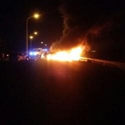 حـادث تصـادم شنيع بين ثلاث مركبات في ولاية الرستاق
