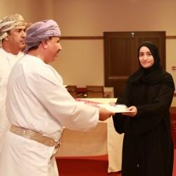 البكري يكرم فريق العمل الفائز بثلاث جوائز في جائزة السلطان قابوس للاجادة
