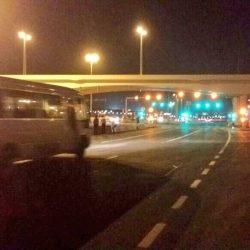 انسيابية الحركة في شارع المطار المزدوج