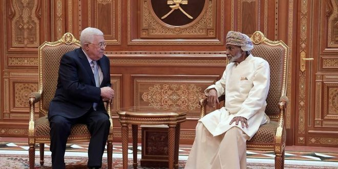 جلالة السلطان المعظم يقيم مأدبة عشاء تكريما للرئيس الفلسطيني