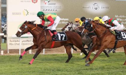 الحصان المبهر للخيالة السلطانية يفوز بالمركز الأول على مضمار أبوظبي