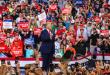 ترامب يستهل حملته الأنتخابية بخطاب رنان أمام مناصريه