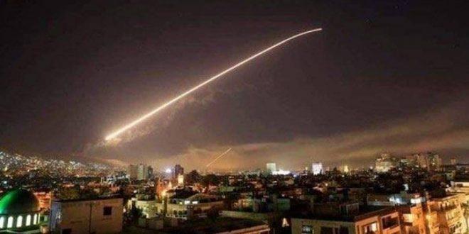 قصف جوي أسرائيلي على مواقع بالقرب من دمشف