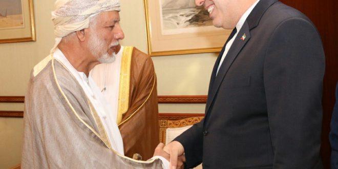 بن علوي يستقبل وزير التراث والثقافة والصناعات اليدوية والسياحة الإيراني