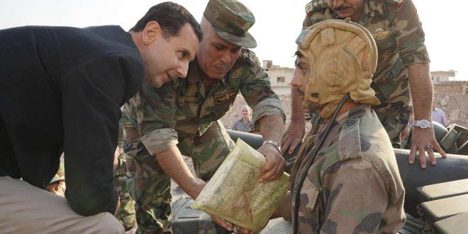 الرئيس الأسد يزور جبهة أدلب