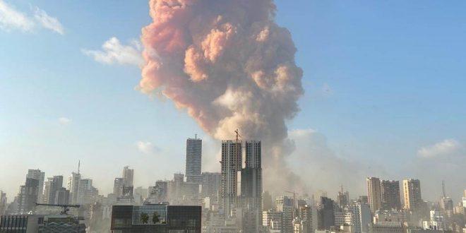 أنفجار ضخم يهز مدينة بيروت