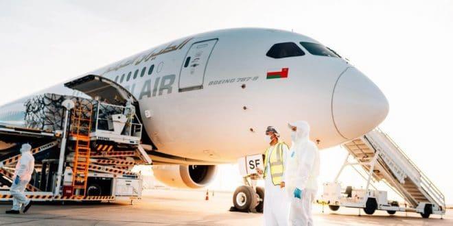 الطيران العماني يطلق مبادرة الشحن الجوي لنقل الإمدادات الطبية للهند